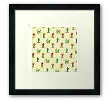 Watercolor Cacti on Yellow Framed Print