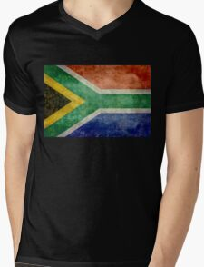 National flag of the Republic of South Africa Mens V-Neck T-Shirt
