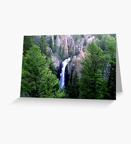 Yellowstone Waterfall Greeting Card