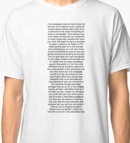 Sebastian Stan Paragraph Design Classic T-Shirt