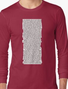 Sebastian Stan Paragraph Design Long Sleeve T-Shirt