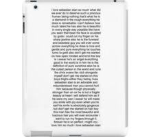 Sebastian Stan Paragraph Design iPad Case/Skin