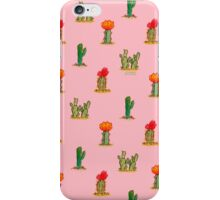 Watercolor Cacti on Pink iPhone Case/Skin