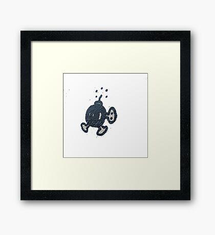 Mario bobomb Framed Print