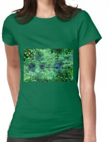Green Serenity Womens Fitted T-Shirt