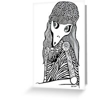 Skull Cap Girl  Greeting Card