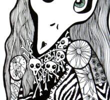 Skull Cap Girl Sticker