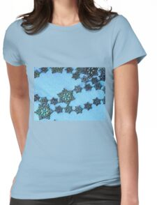 Blue Lace Womens Fitted T-Shirt