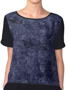 Peacoat Oil Painting Color Accent Chiffon Top
