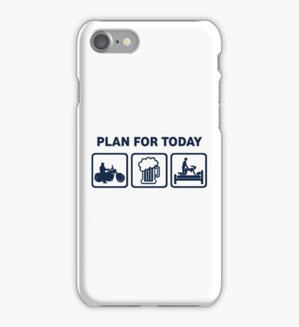 Funny Motorbike Plan For Today iPhone Case/Skin