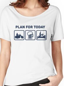 Funny Motorbike Plan For Today Women's Relaxed Fit T-Shirt