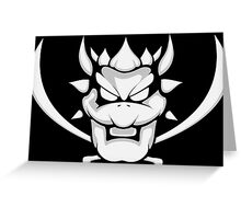 bowser flag Greeting Card