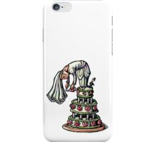 Bride Decorates Her Own Wedding Cake iPhone Case/Skin