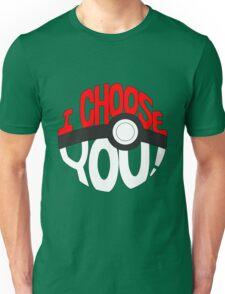 pokemon i choose you Unisex T-Shirt