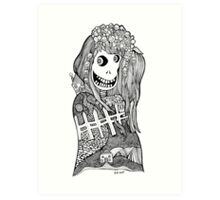 Happy Head Girl  Art Print