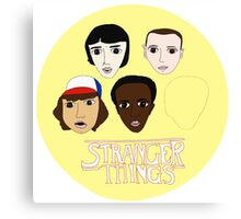 Stranger Things Crew - Yellow Canvas Print
