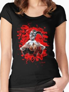 Harlequin Psychedelic - red Women's Fitted Scoop T-Shirt