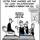 Funny Vampire birthday card by David Stuart