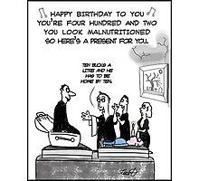 Funny Vampire birthday card Photographic Print