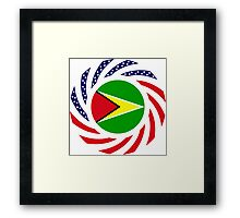 Guyanese American Multinational Patriot Flag  Framed Print