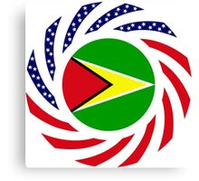 Guyanese American Multinational Patriot Flag  Canvas Print