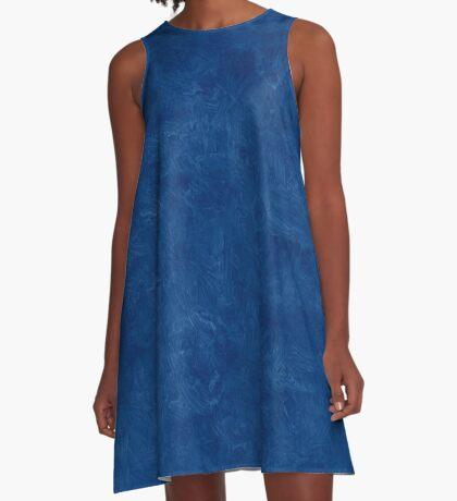 Cool Black Oil Pastel Color Accent A-Line Dress