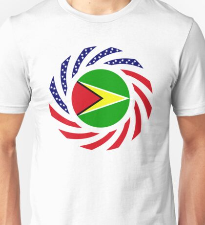 Guyanese American Multinational Patriot Flag  Unisex T-Shirt