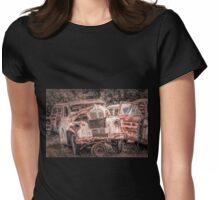 Rusted Car Womens Fitted T-Shirt