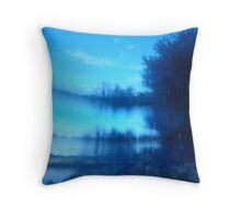 Twilight Blue Throw Pillow