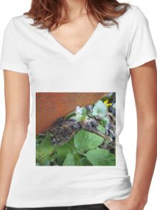 Another bird escape from the Zoo of Death Women's Fitted V-Neck T-Shirt