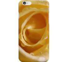 Raindrops on yellow iPhone Case/Skin