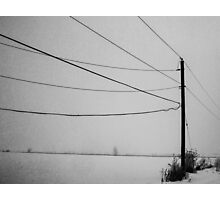 Vintage Telephone Lines Photographic Print