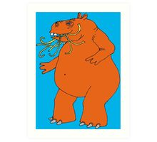 Hungry Hippo Need Udon Noodles Osaka Style Art Print