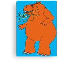 Hungry Hippo Need Udon Noodles Osaka Style Canvas Print