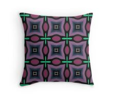 PATTERNATION| PURPLE AND AQUA CROSSES| RB EXCLUSIVE Throw Pillow