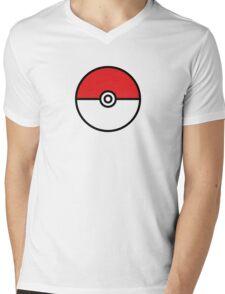 POKEMON GO POKEBOLA Mens V-Neck T-Shirt