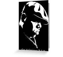 The Notorious B.I.G. Stencil Greeting Card