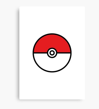 POKEMON GO POKEBOLA Canvas Print
