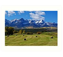 Hay With A View Art Print