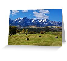 Hay With A View Greeting Card