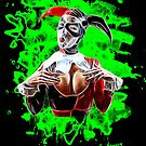 Harlequin Psychedelic - green by Bela-Manson