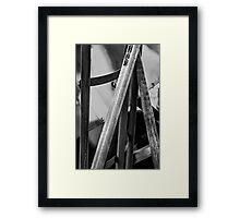 Texture and Worn Tools Framed Print