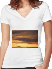 SKY Women's Fitted V-Neck T-Shirt