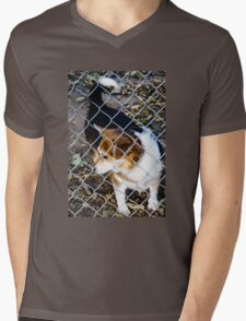 Behind the Fence Mens V-Neck T-Shirt