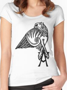 Buffy- angel's tattoo (black) Women's Fitted Scoop T-Shirt