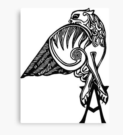 Buffy- angel's tattoo (black) Canvas Print