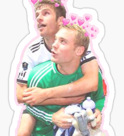 Neuer and Muller - German Football Sticker