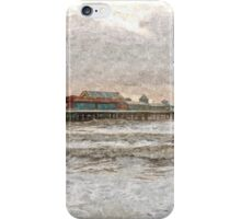 Central Pier Blackpool in Oils iPhone Case/Skin