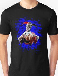 Harlequin Psychedelic - blue Unisex T-Shirt