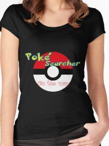 Pokemon go Poke searcher Women's Fitted Scoop T-Shirt